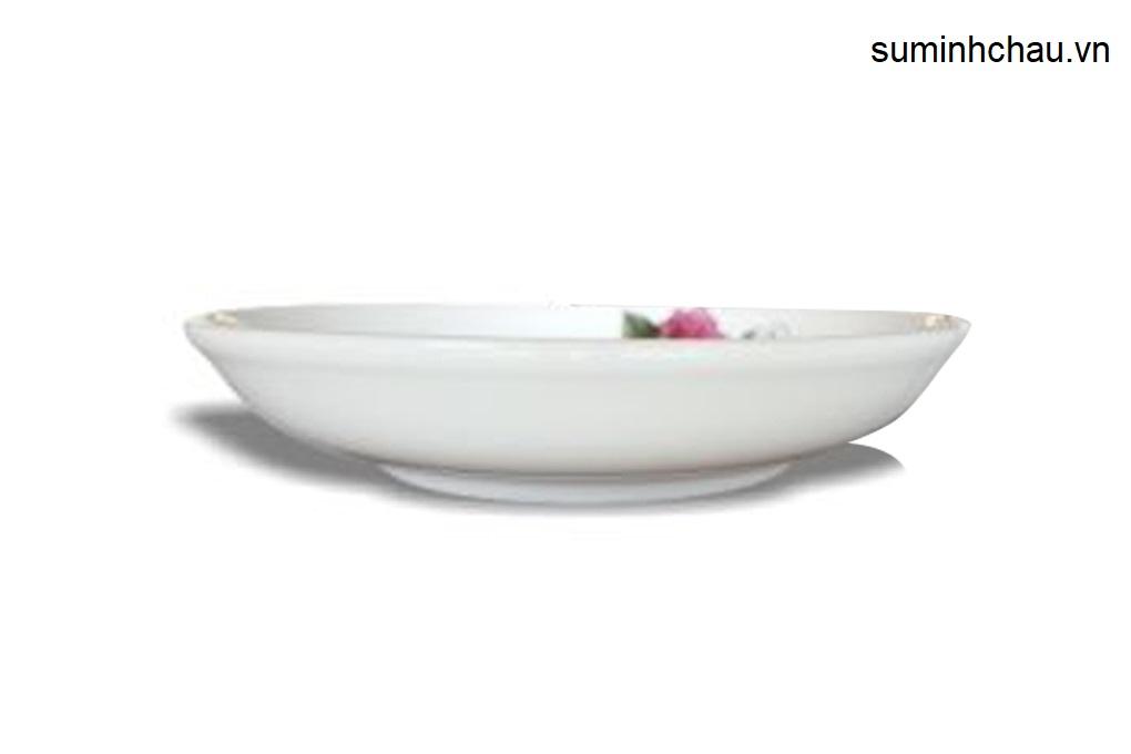 Đĩa sâu Minh Châu hoa kiểu Hàn Quốc DHS07H08