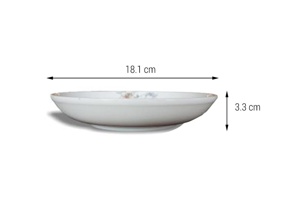 Đĩa sâu sứ Minh Châu hoa kiểu Hàn Quốc DHS07H07 1