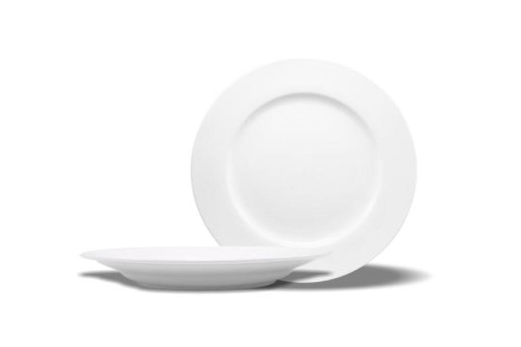 Đĩa bằng sứ Minh Châu trắng 1