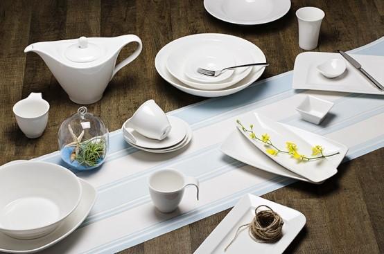 Nhận cung cấp / sản xuất bộ bát đĩa sứ trắng theo yêu cầu cho nhà hàng khách sạn