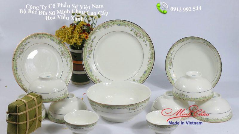 Chọn quà tặng chén đĩa sứ Minh Châu cho công nhân -Chén đĩa Minh Châu quà tặng trung thu ý nghĩa
