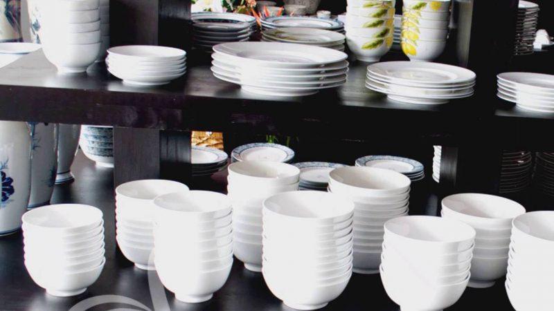 Xưởng sản xuất chén đĩa sứ trắng giá rẻ in logo theo yêu cầu uy tín giá gốc tại xưởng